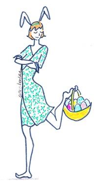 Easter illustration of therapist