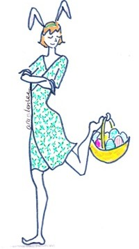 Easter illustration of therapist